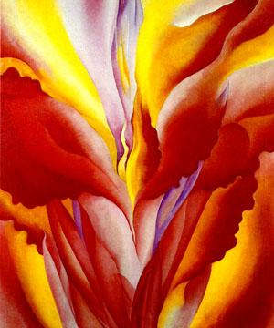 Red Canna by Georgia O'Keeffe, 1923