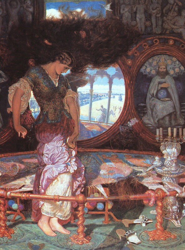 The Lady of Shalott by William Holman Hunt, 1889-92